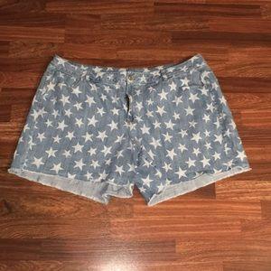 Lane Bryant Jean Star Shorts